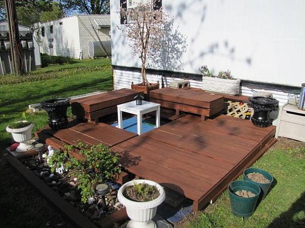 Terrazas hechas de palets Arkiplus - Terrazas Con Palets