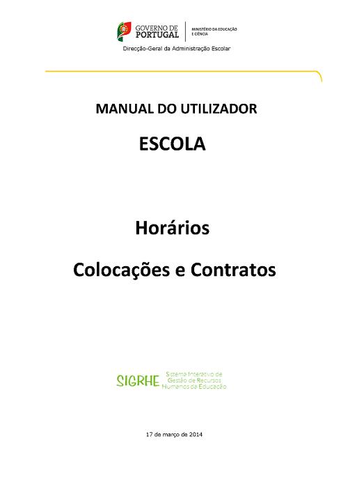Manual do Utilizador – Horários, Colocações e Contratos  – 2013_2014