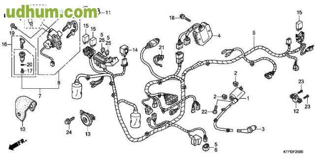 07 honda rubicon diagrama de cableado