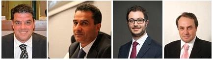 (L-R) Boris Rapa, Moreno Pieroni, Gianluca Busilacchi, Luca Marconi