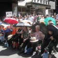 Genocide survivors at the Times Square commemoration