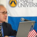 Akcam speaks to hundreds of students at La Salle University