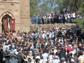 The scene outside the church. (Photo by Talin Suciyan)