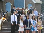 the graduating class at St. Leon's Sunday School.
