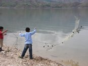 Boys fishing in Uzunova (Photo by Nanore Barsoumian)