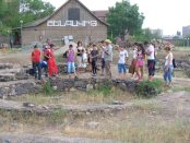 Students visiting Shengavit