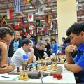 The Armenian team during their round 4 match (Photo by Arman Karakhanyan)