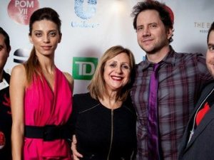 (From Left) The director of 'Lost and Found in Armenia' Gor Kirakosian; stars Angela Sarafyan and Jamie Kennedy; the executive producer of the National Film Board of Canada, Silva Basmadjian; and POM chair Sevag Yeghoyan