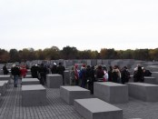 German children on a student tour of the Memorial.