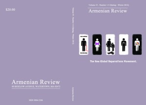 armenianreview cover final 300x216 Special Issue of 'Armenian Review' Discusses Genocide Reparations