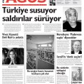 Agos headline: Turkey Silent as Attacks Continue