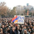A scene from the Feb. 24 rally in Yerevan, during which Hovannisian urged authorities and CEC to do the right thing.