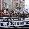 "Protest against anti-Armenian crimes in Samatya, Istanbul: ""We stand together with Armenians, we won't give way to racism."" (Photo shared on Facebook by Halkların Demokratik Kongresi [HDK])"