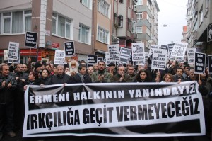 demo 300x199 Behind the Police Lines: The Attacks Against Armenians in Samatya