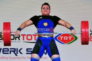 Hripsime Khurshudyan 300x199 Armenian Weightlifting Champ Wins Best Female Athlete Title