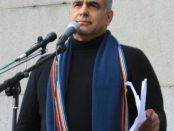 Hovannisian on Freedom Square (Photo: The Armenian Weekly)