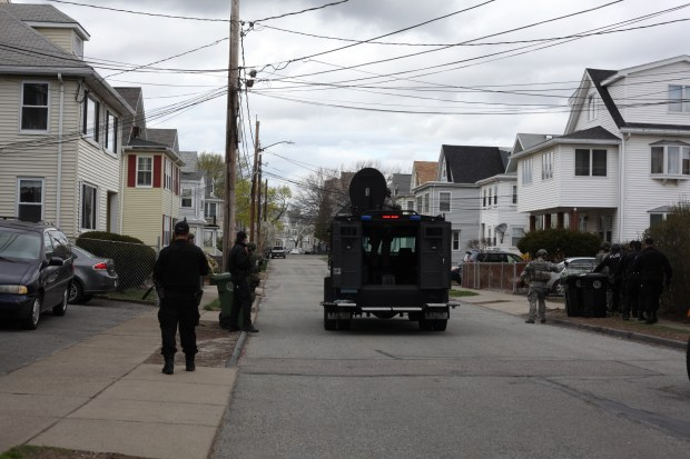 Nanore pic SWAT teams searching through a neighborhood 1024x682 Watertown Family Describes Minutes Leading to Dzhokhar Tsarnaev's Arrest