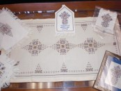 Samples of the Syrian-Armenian made needlework