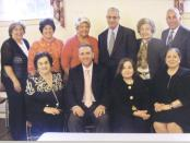 Armenian Memorial Church members participating in preparations for the Annual Fair to be held on May 31 and June 1, are (back row, L-R) Roberta Vanderkeyl, Susan Parseghian, Carol Trio, Steve Sabounjian, Bette Ohanian, Wayne Parseghian, and (front row, L-R) Angel Parseghian, Pastor Rev. Dr. Avedis Boynerian, Vicky Tomasian, and Phyllis Dohanian.