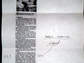 Image of threatening letter sent to the home of Ara and Salpee Sahagian.