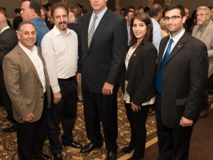 Koutoujian with ANCA National Board Member Stephen Mesrobian, ANCA Eastern Region Board Member Tamar Kanarian and ANCA Eastern Massachusetts activists Mikael Garabedian and Dikran Kaligian.