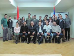 "The ARF Youth and Student Organizations Pan-Armenian Conference delegates at the ""Aram Manougian"" Youth premises, in Yerevan"
