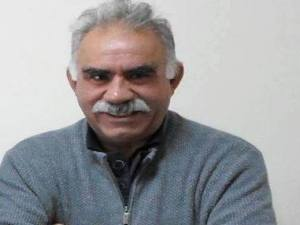 A recently released photo of Ocalan