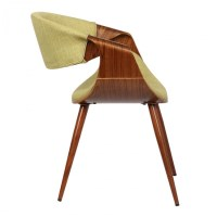 Armen Living Butterfly Mid-Century Dining Chair in Walnut ...