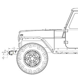 jeep cj front bumper ends