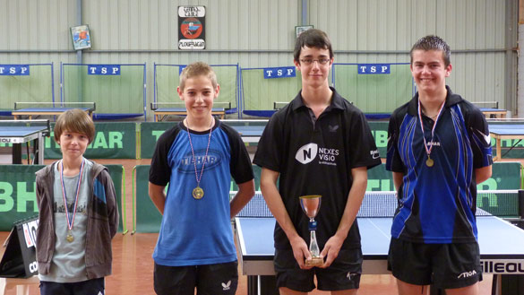 Podium tournoi jeunes 2011