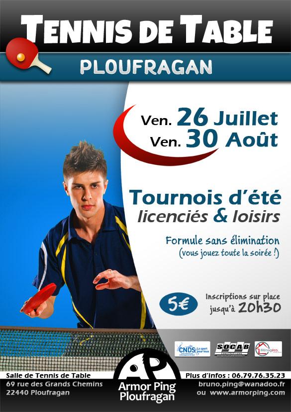Tournois d'été de tennis de table à Ploufragan (côtes d'armor)