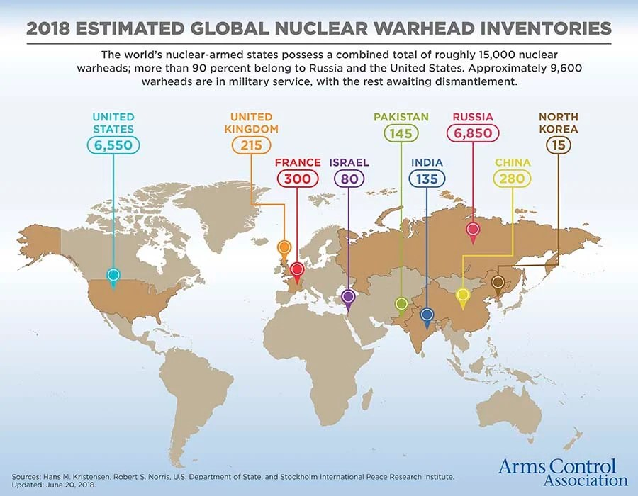 Nuclear Weapons Who Has What at a Glance Arms Control Association