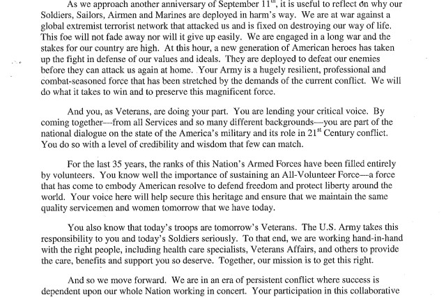 A Letter to Veterans Article The United States Army