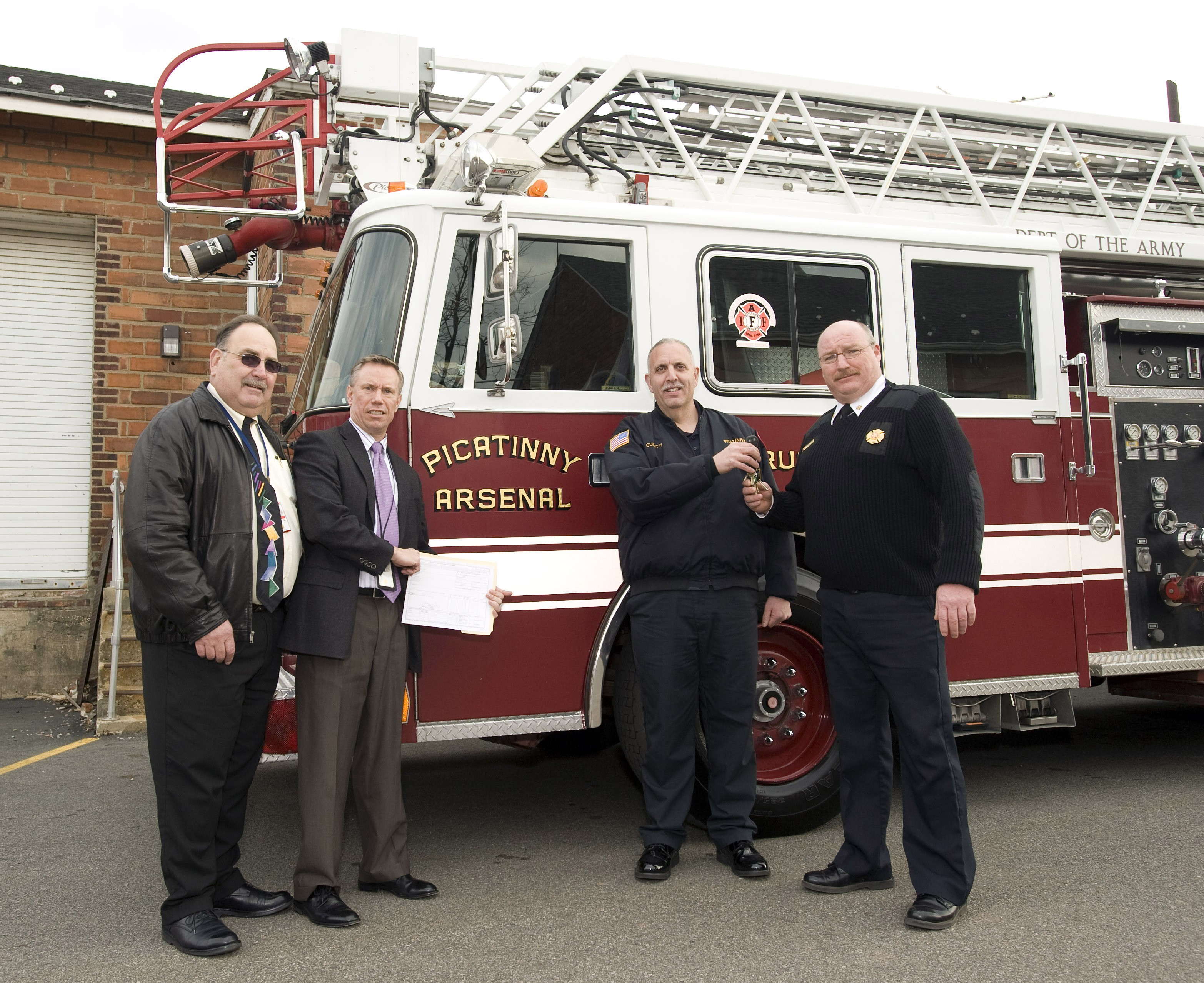 Picatinny Fire Department Donates Ladder Truck To Lyons Va