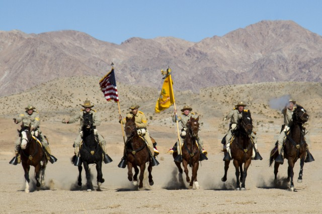 US Cavalry Charge of the field of battle Article The United