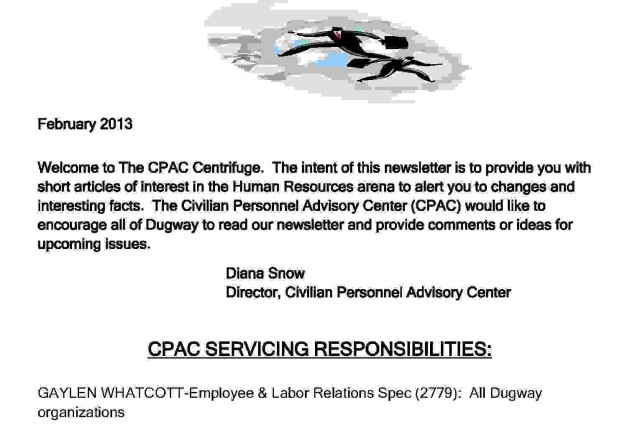 CPAC CENTRIFUGE Feb 2013 Article The United States Army