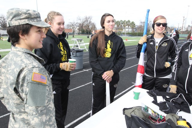 Army ROTC Cadets mentor members of Army All-American Marching Band