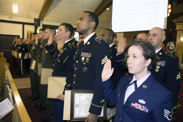 Stuttgart NCOs inducted into backbone of military Article The