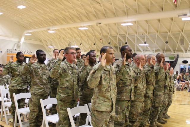 19th Engineer Battalion inducts 28 newly promoted sergeants into NCO