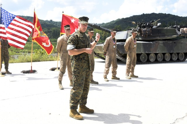 Local Marines host tank gunnery competition at Fort Knox range