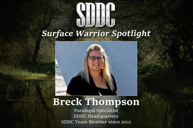 Thompson has no objection to being in the Surface Warrior Spotlight
