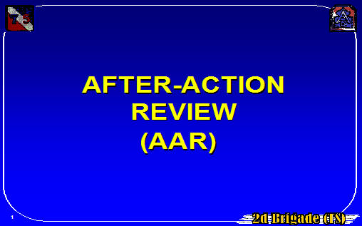 After Action Review AAR (ArmyStudyGuide)