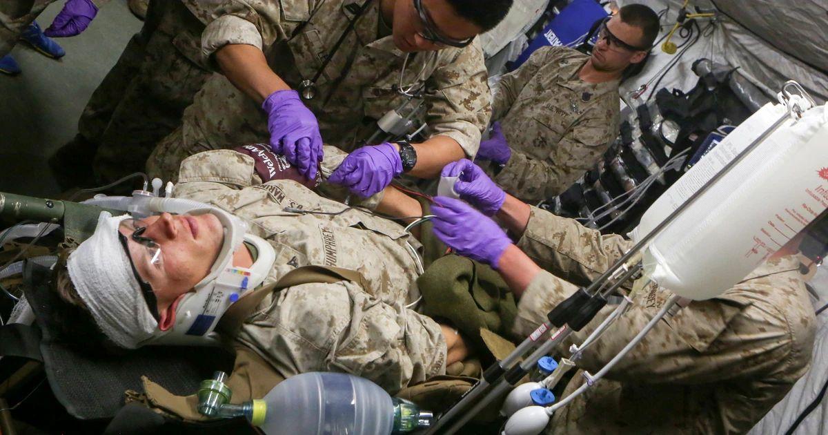 marine combat medic