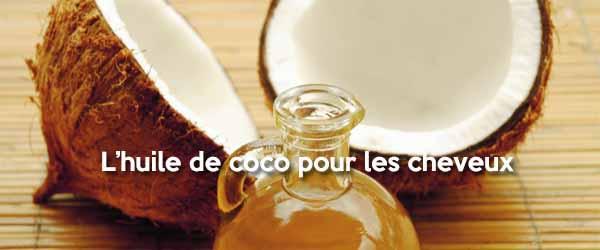 L'huile de coco pour la santé des cheveux