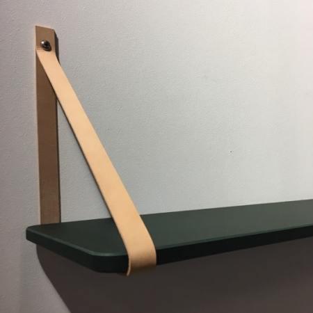 Grow væghylde i linoleum og læder