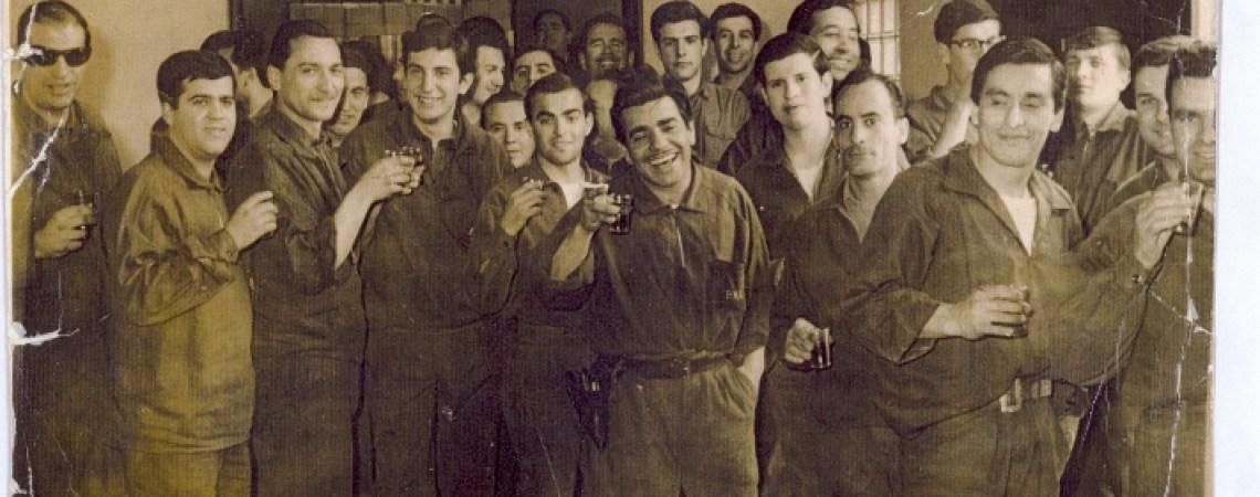 Daniel Arteaga y sus compañeros del Banco Nación