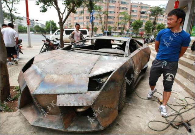 Fã De Carros Constrói Réplica De Lamborghini Usando Apenas 3 Soldadores E US$ 14 mil