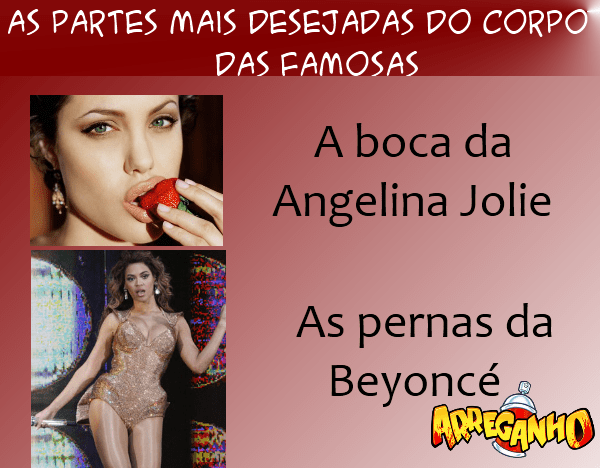 As Partes Mais Desejadas Do Corpo Das Famosas