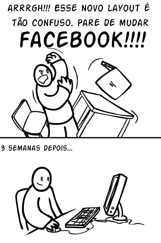 Se Acostumando Com O Novo Facebook