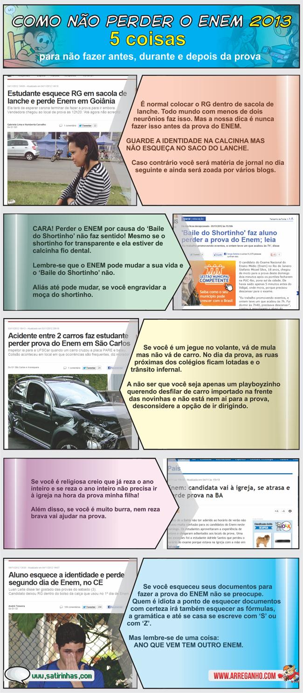 5 Dicas Para Você Não Perder o ENEM 2013